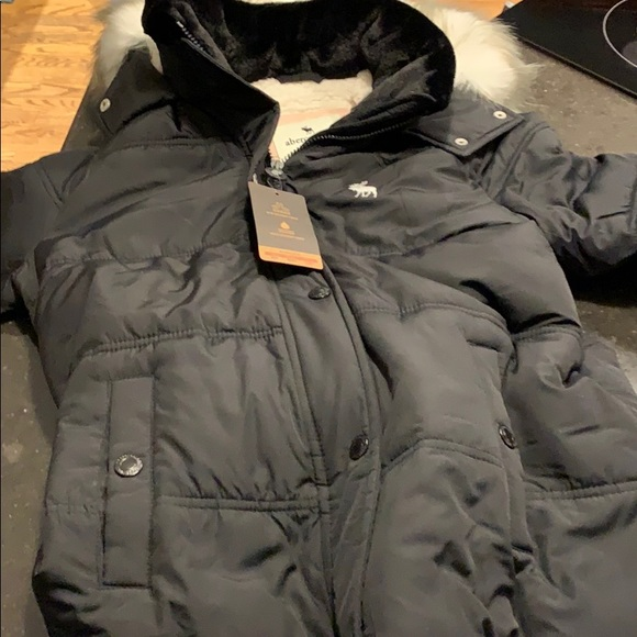 f5a53ff0b604 Abercrombie kids girls winter coat jacket xl 15 16